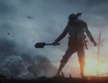A soldier wields a melee weapon in the new 'Battlefield 1'reveal trailer from DICE and EA.