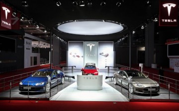 The Tesla exhibit during the 2015 Shanghai Auto Show. The electric carmaker is reportedly eyeing the city as the site of its first ever factory in China.