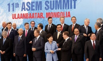 World leaders at the ASEM Summit