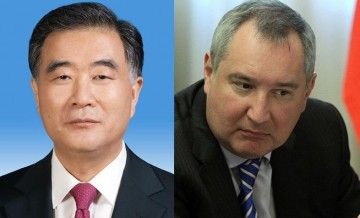 Wang Yang and Dmitry Rogozin