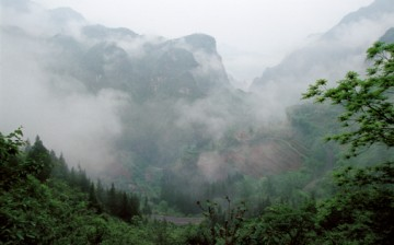 A view of the Shennongjia Forest in Hubei Province in Central China.