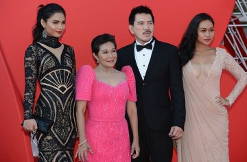 Lovi Poe, Nora Aunor, director Brillante Mendoza and Mercedes Cabral attend the 'Thy Womb' Premiere during The 69th Venice Film Festival at the Palazzo del Cinema on September 6, 2012 in Venice, Italy.