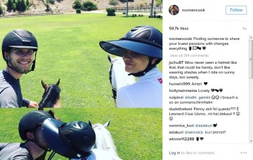 Kaley Cuoco loves riding horses with equestrian boyfriend Karl Cook.