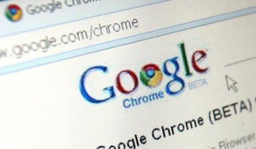 Google's Chrome, Google Inc.'s new Web browser, is displayed on a laptop.