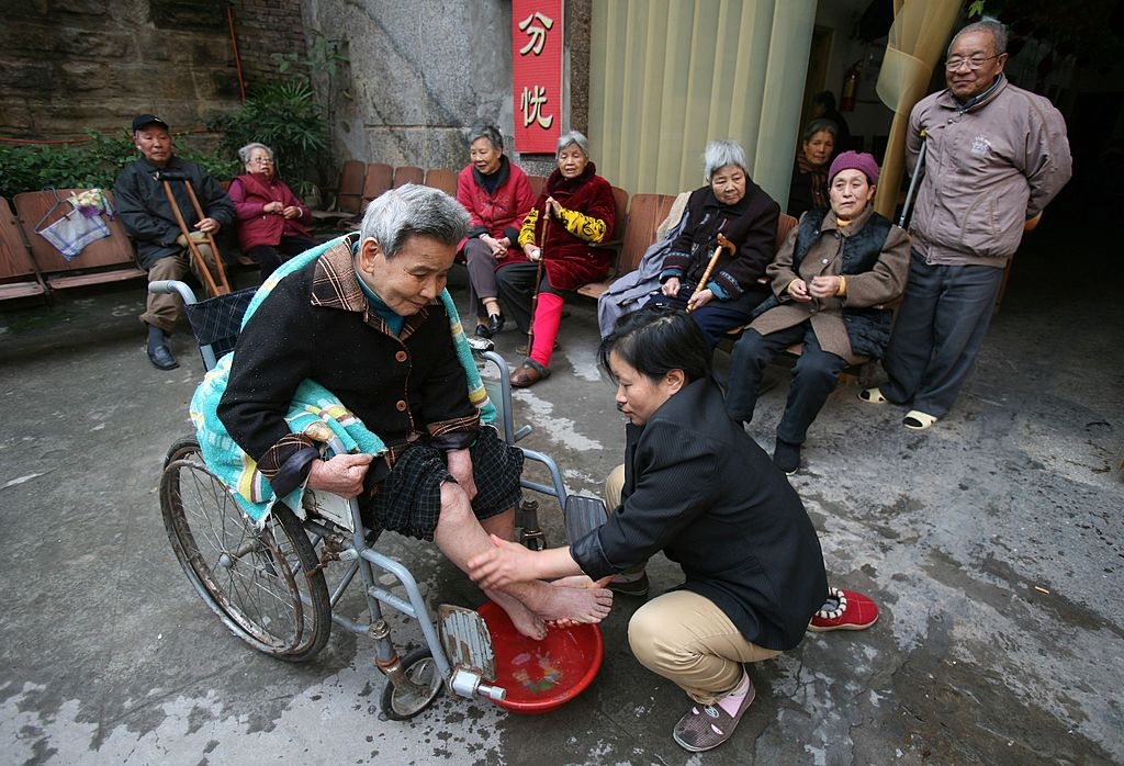 china aged care How will the government take care of all these people (photo  china's  dependency ratio for retirees -- those aged 65 or older divided by total.