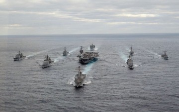 U.S. Navy carrier group.