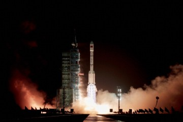 China launches its first space laboratory module, Tiangong-1.