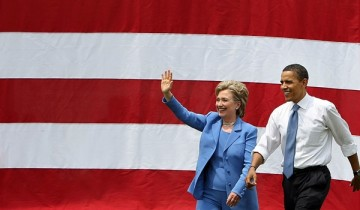 Hillary Clinton is the wife of United States' 42nd president Bill Clinton while Barack Obama is the 44th U.S. president.