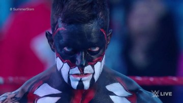 Finn Balor shows the fans The Demon King look for the first time on WWE television.
