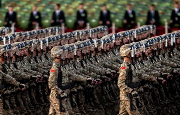 Chinese soldiers.