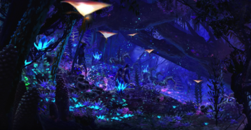 Revealed at D23's Destination D 2016 at Walt Disney World, the artwork showcases the Na'vi River Journey ride that will open as part of the World of Avatar at Disney's Animal Kingdom in Summer 2016.