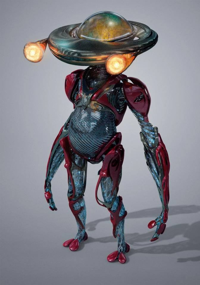 Concept art of Alpha 5 in the 'Power Rangers' movie