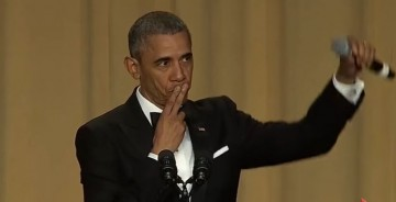 President Barack Obama bids farewell during his hilarious final White House correspondents' dinner speech.
