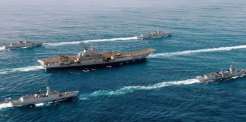 Liaoning and her escorts.