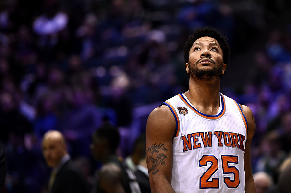 d87aa40a2e8 NBA Trade Rumors  Derrick Rose  isn t a happy camper  in New York  Should Knicks  trade All-Star point guard