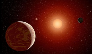 Wolf 1061c planetary system (artist's concept).