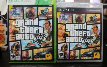 Copies of Grand Theft Auto V are displayed at the 8 Bit & Up video games shop in Manhattan's East Village on September 18, 2013 in New York City