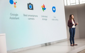 Sabrina Ellis, Director of Product Management at Google Inc., speaks during an event to introduce the Google Pixel phone and other Google products on October 4, 2016 in San Francisco, California.