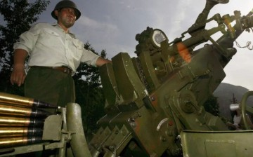 An anti-aircraft gun modified by the Chinese to fire cloud seeding rounds.