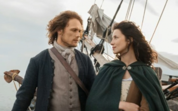 Time-travelling Starz series 'Outlander' stars Sam Heughan as Jamie and Catriona Balfe as Claire.