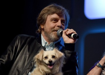 Mark Hamill on stage during Future Directors Panel at the Star Wars Celebration 2016 at ExCel on July 17, 2016 in London, England.