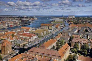 View of Port of Copenhagen, biggest cruise port in the Baltic and welcomes almost 850,000 cruise passengers and 240,000 crew members from more than 150 countries a year.