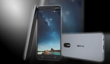 Nokia phones are displayed in order to showcase its physical features.