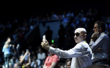 An attendee uses an Apple Inc. iPhone, not the iPhone 8, before the start of an event in San Francisco, California, U.S., on Wednesday, Sept. 7, 2016.