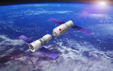The Tiangong-2 space lab will receive on-orbit transfer of liquid propellant from Tianzhou-1.