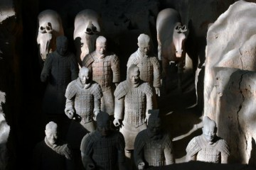 The Terracotta Army, one of China's top destinations for tourists and situated in the city of Xi'an in Shaanxi province, has a full-scale copy in Anqing City, Anhui.