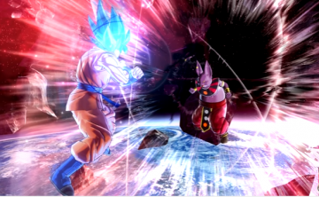 Son Goku and Champa size up each other in 'Dragon Ball Xenoverse 2.'