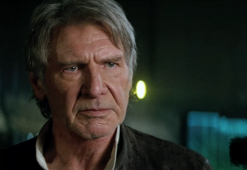 Han Solo (Harrison Ford) gives that look on