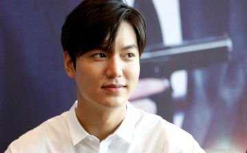 South Korean model and actor Lee Min Ho attends a press conference for the new movie 'Bounty Hunters' on June 24, 2016 in Fuzhou, Fujian Province of China.
