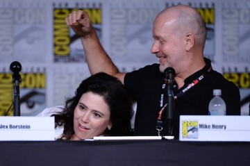 Alex Borstein and Mike Henry attend the 'Family Guy' panel during Comic-Con International 2016 at San Diego Convention Center on July 23, 2016 in San Diego, California.