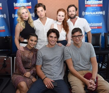 'Riverdale' stars Luke Perry, Madelaine Petsch, Cole Sprouse and Lili Reinhart join writer Roberto Aguirre-Sacasa at SiriusXM's Entertainment Weekly Radio Channel Broadcasts From Comic-Con 2016.