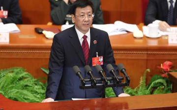 Procurator General Cao Jianming presents the annual report by the People's Supreme Court.