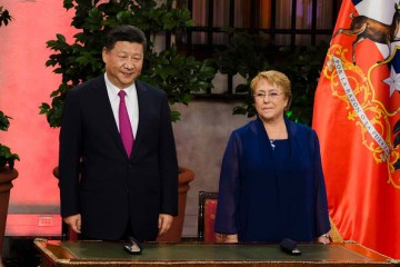 China's initiatives to cooperate with Latin America were formalized during President Xi's visit with Chilean President Michele Bachelet.