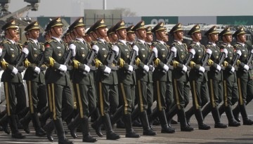 Chinese troops marched in Pakistan Day Parade.
