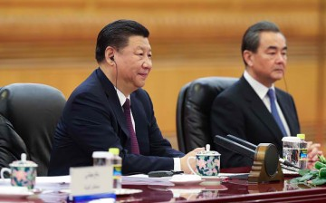 Chinese President Xi Jinping and Foreign Minister Wang Yi.