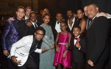 The cast and crew of Black-ish attend the 48th NAACP Image Awards at Pasadena Civic Auditorium on February 11, 2017 in Pasadena, California.