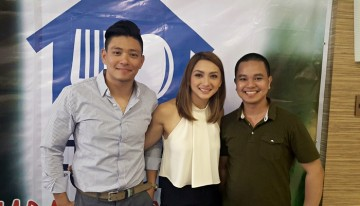 Drew Arellano and Iya Villania pose with Conan Altatis at the