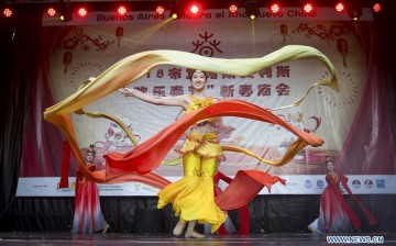 Artists from Hangzhou perform during the celebration of the Chinese Lunar New Year