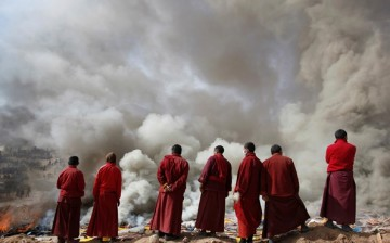 The traditional sky burial has been practiced for thousands of years in Tibet.