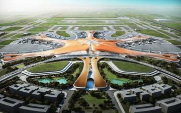 The star-shaped design for the Beijing airport.