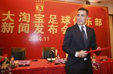 Former Italian soccer player Fabio Cannavaro is the new coach of Guangzhou Evergrande Taobao Football Club.