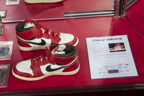best website 1d1fc 568bb Michael Jordan s 1984 Nike Basketball Shoes Purportedly First NBA Game-Worn  Pair, Going to Auction