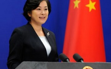Hua Chunying, a spokesperson for the Chinese Foreign Ministry, answers media queries in a daily briefing.
