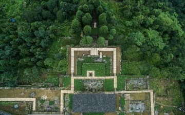 An aerial view of Hailongtun Fortress in southwest China's Guizhou Province