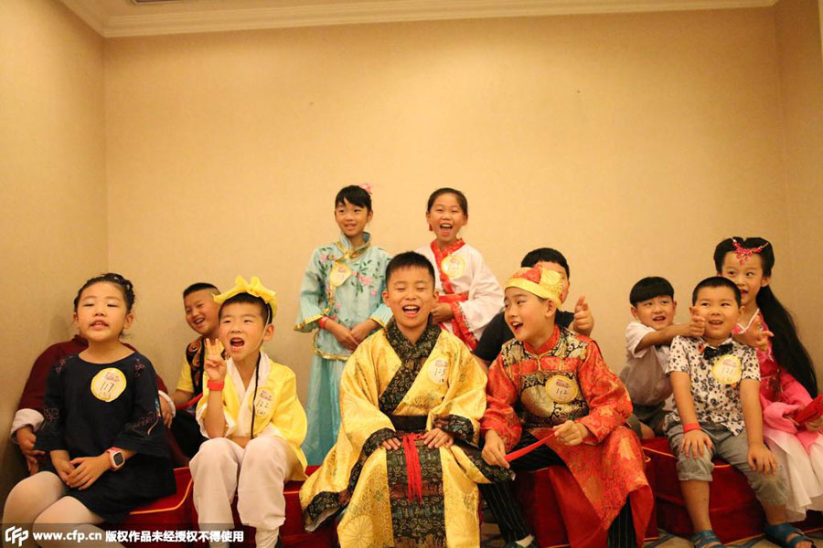 Culture Passed Down Hundreds Of Children Don Traditional Cl