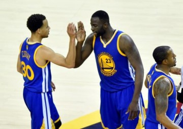 Steph Curry, Draymond Green and Andre Iguodala